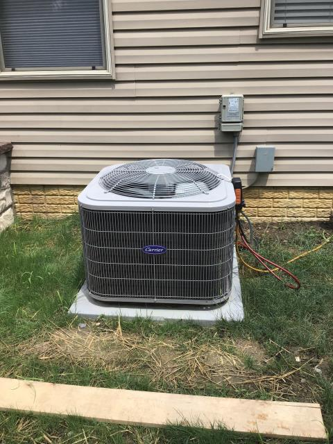Lithopolis, OH - Upon diagnostic visit, found unit sub cool at 1.0. Previous owner did install is AC themselves. No paperwork on install.  Not sure if vacuum pump was used or how the install went. Came to the conclusion that the unit wasn't properly charged at time of install.