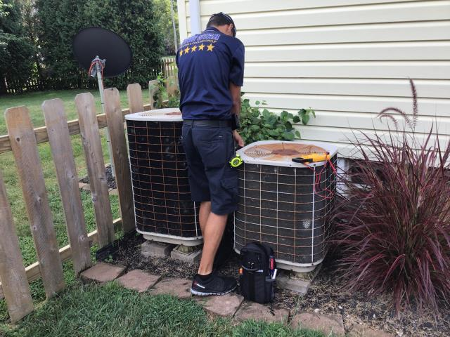 Gahanna, OH - Performed check out- inspection of Nordyne A/C unit.