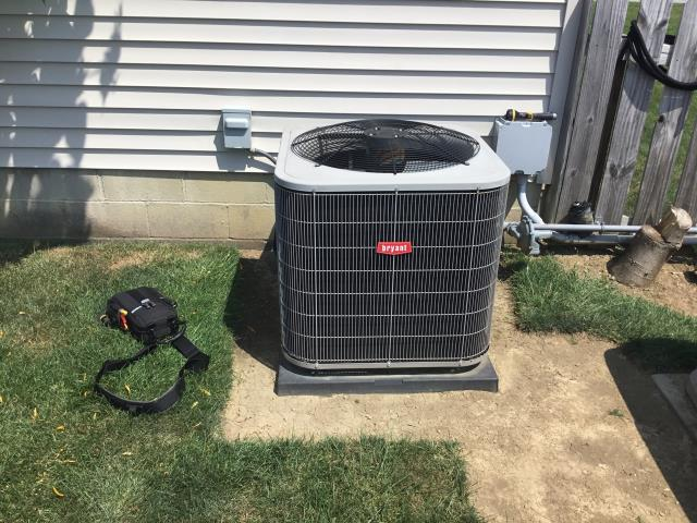2013 Bryant unit not cooling properly Tech found low on charge Customer wanted to add Puron at this time. Unit cooling at time of departure.
