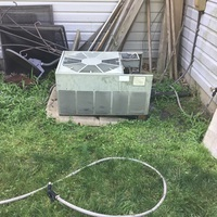 Compressor and fan capacitor replaced on 1988 Rheem Air Conditioner. System is working within manufacture specifications at this time.