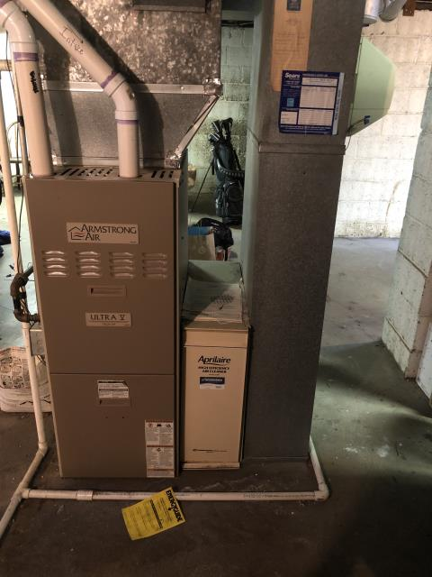 Free in-house estimate provided to replace an Armstrong Gas Furnace and A/C with a Carrier System. Zero interest financing offered through Wells Fargo.