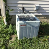 Blacklick, OH - Recharged TRANE unit. Checked pressures and repaired compressor wire.