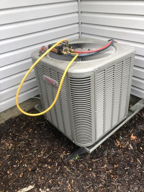 Diagnostic Performed Cleaned Coil Condenser & Added Puron On Lennox AC System To Keep AC Running Efficiently For The Summer Season