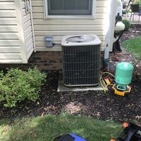 1. Add refrigerant like a bandaid.  2. EasySeal kind of like fix-a-flat  3. Leak search and possible repair  4 replace AC unit.