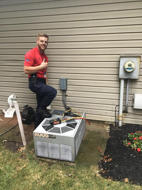 Tune-Up Performed On Rudd Gas Furnace & AC To Keep Units Running Efficiently For The Winter/Spring Season