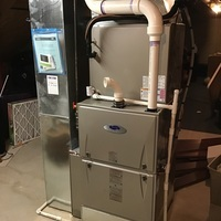 "Carroll, OH - Installation inspection performed on new Carrier ""Infinity Series"" 98% Variable-Speed Modulating 120,000 BTU Gas Furnace Carrier ""Infinity Series"" 19 SEER Variable-Speed 4 Ton Air Conditioner."