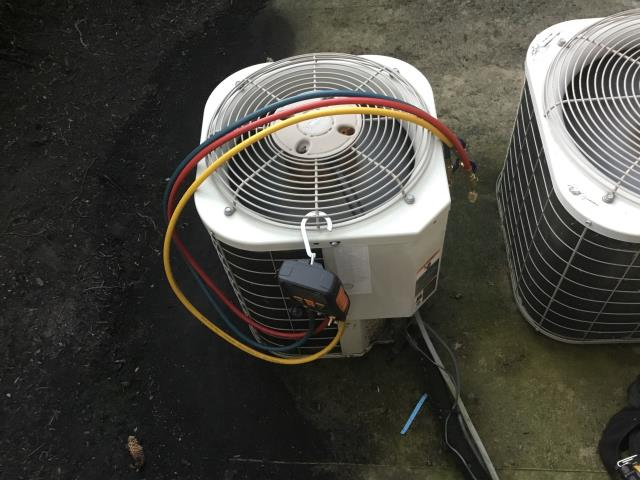 Tune up and Safety check performed on a Carrier AC Unit.