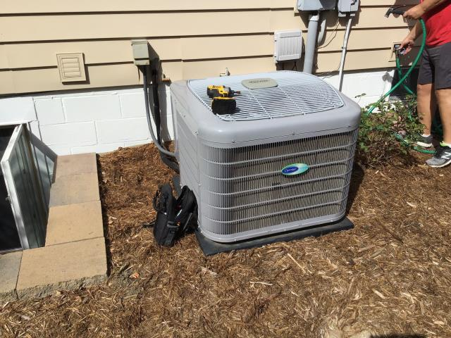 Tune up & Safety check performed on a Carrier Gas furnace & Carrier AC unit.