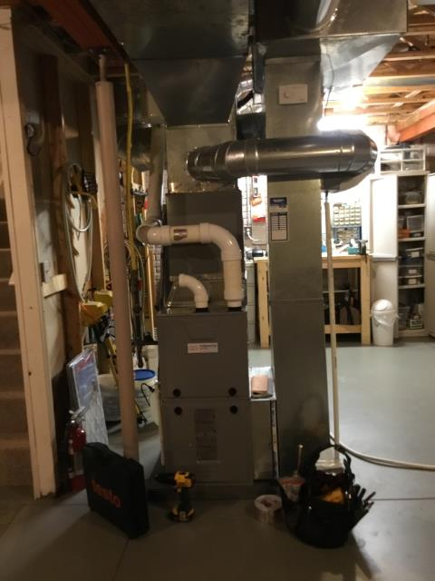 Electric furnace tuneup completed.
