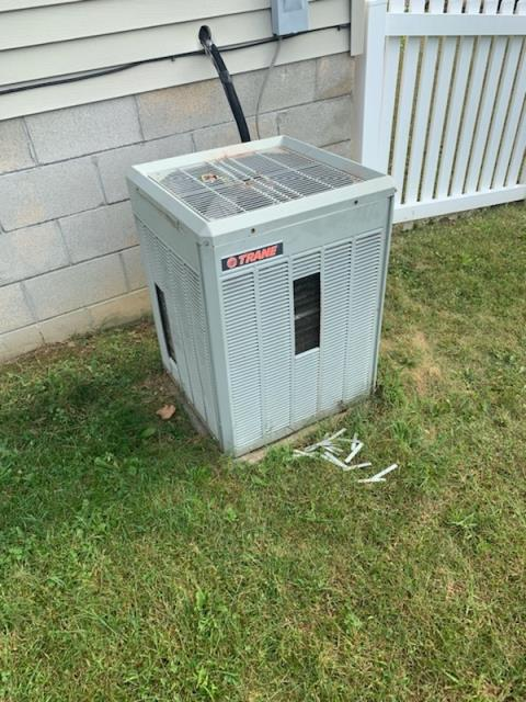 Trane system in need of  condenser motor, runcap and blade