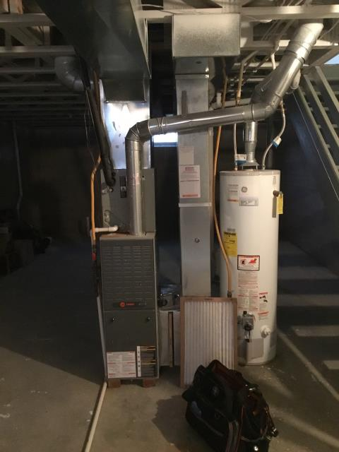 Westerville, OH - Furnace tune - up and safety check performed on a Trane system. Confirmed that the system is working within manufacturer specifications.