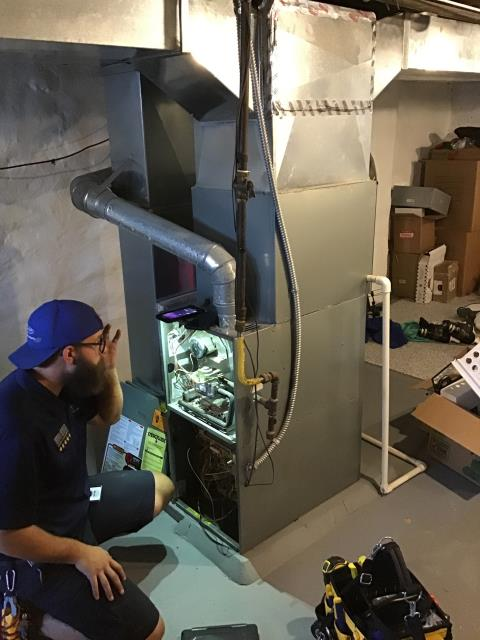 Performed Our Special Tune-Up & Safety Checkout On Bryant Gas Furnace To Keep Furnace Running Efficiently For The Fall/Winter Season