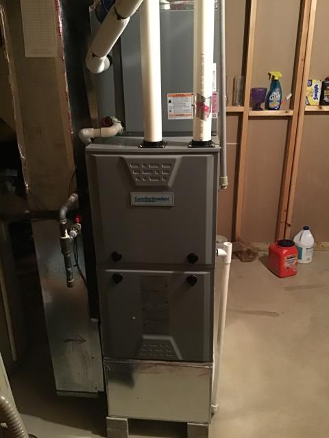 Furnace tune - up and safety check performed on a Comfortmaker system. Confirmed that the system is working within manufacturer specifications.
