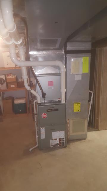Performed Our Special Tune-Up & Safety Checkout On Rheem Gas Furnace To Keep Furnace Running Efficiently For The Fall/Winter Season