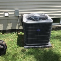 Westerville, OH - Outdoor condenser for 2018 Carrier Central Air System confirmed to have a bad capacitor. Capacitor replaced under warranty and system is working within manufacture specifications.