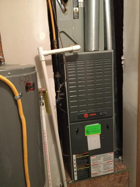 Furnace tune - up and safety check performed on a Trane system.  Replaced Capacitor. Confirmed that the system is working within manufacturer specifications.