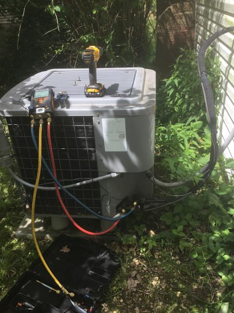 Diagnostic Service Call for A/C.  Customer stated nothing would turn on. Found breaker for the air handler tripped. Reset breaker and cycled system in cooling. All components working properly with a 18 degree temp drop. Cycled system in heating mode. Tech could not get system to trip breaker. System operating properly at this time.