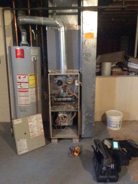 Reynoldsburg, OH - Furnace tune - up and safety check performed on system. Confirmed that the system is working within manufacturer specifications.