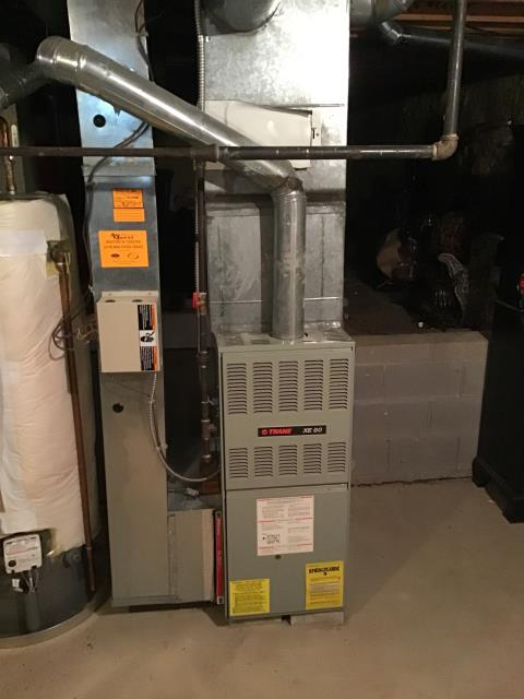 Provided Estimate New Carrier 80% 90,000 BTU Gas Furnace To Replace Existing Trane Gas Furnace