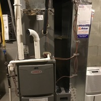 Diagnostic service performed on Lennox Gas Furnace to find the gas was turned off. Turned on the gas and confirmed the system is running properly.