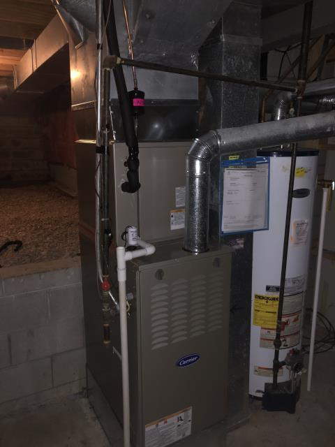 Diagnostic Performed Re-Wired T-Stat On Carrier Gas Furnace To Keep Furnace Running Efficiently For The Winter Season