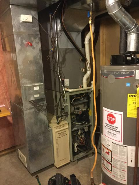 Performed Our Special Tune-Up & Safety Checkout On Trane  Gas Furnace To Keep Furnace Running Efficiently For The Winter Season