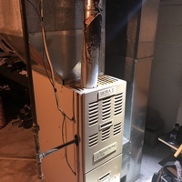 Technician confirmed Goodman furnace to have a bad circuit board. Free quote given at customer request to replace with a Carrier unit.  Pictured is the customers Goodman furnace.