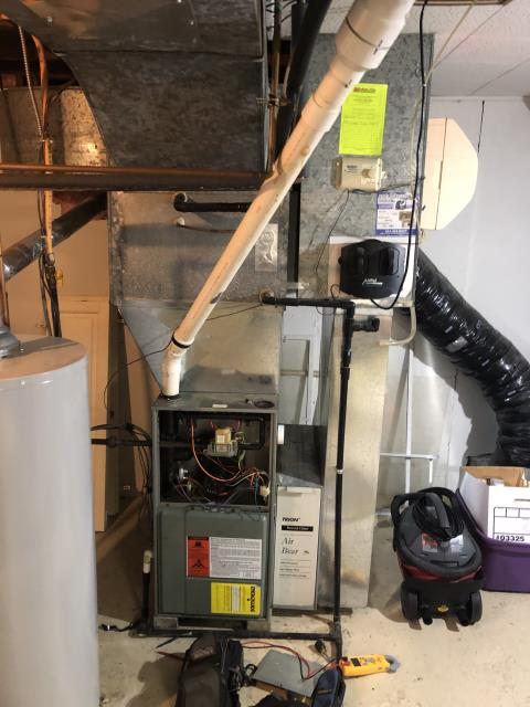 Diagnostic Performed Replacing Pressure Switches & Rubber Tubing On Rheem Gas Furnace  To Keep Furnace Running Efficiently For The Winter Season