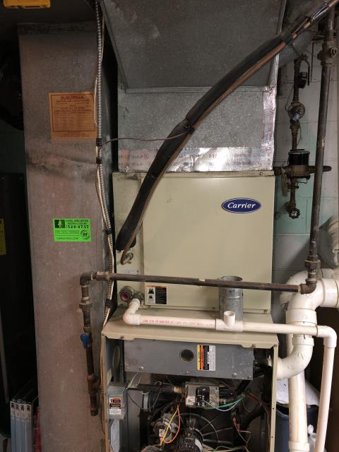 Diagnostic Performed Removed Restriction From Fresh Air Take On Carrier Gas Furnace To Keep Furnace Running Efficiently For The Winter Season