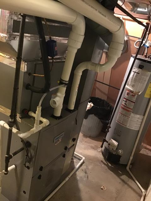 Diagnostic Performed Tightened Water Hose On Aprilaire Humidifier To Keep Comfortmaker Gas Furnace Running Efficiently For The Winter Season