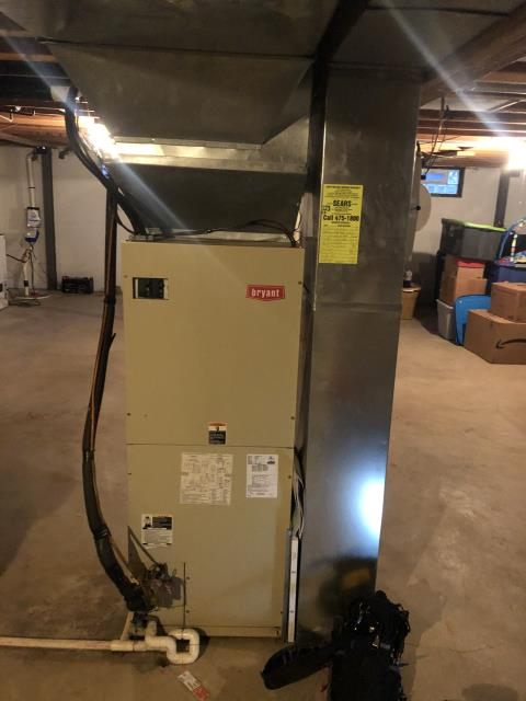 """Provided Estimate Installing New Carrier """"Infinity Series"""" Variable Speed 3 Ton Electric Furnace / Fan & New Carrier """"Infinity Series"""" up to 18 SEER Variable-Speed 3 Ton Heat Pump To Replace Existing Bryant AC & Furnace System"""
