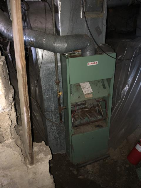 Lancaster, OH - Diagnostic Service Call on SINGER furnace. / no heat. System shut off by gas company. System in disarray needs replaced