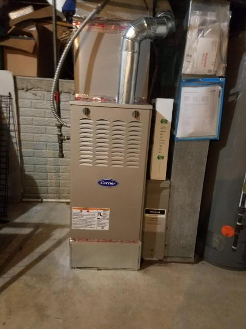 Diagnostic Performed Ran Drain Line From Humidifier To Drain To Keep Carrier Gas Furnace Running At Highest Performance For The Winter Season