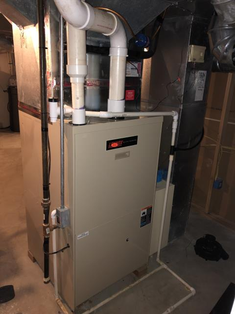 When the technician arrived the Gas Lennox Furnace was not operational.  After running a diagnostic the findings revealed a broken threading and the technician reinsert the fitting to get the unit to fire up and now the heat is functional once again.  Technician did suggest a replacement unit.