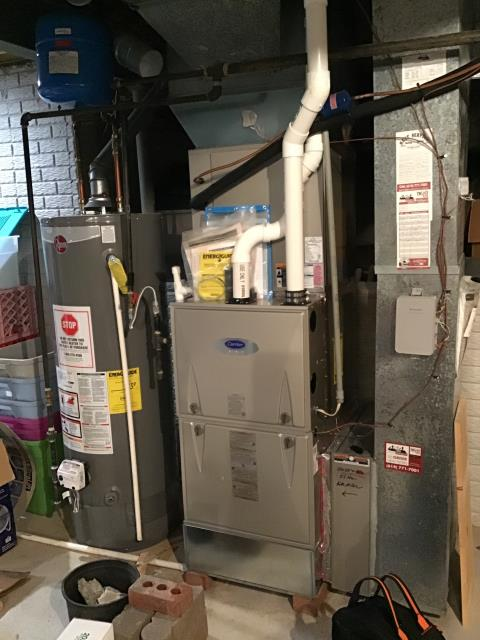 Canal Winchester, OH - Furnace Tune Up & Safety Inspection on 2018 Carrier Brand Furnace.