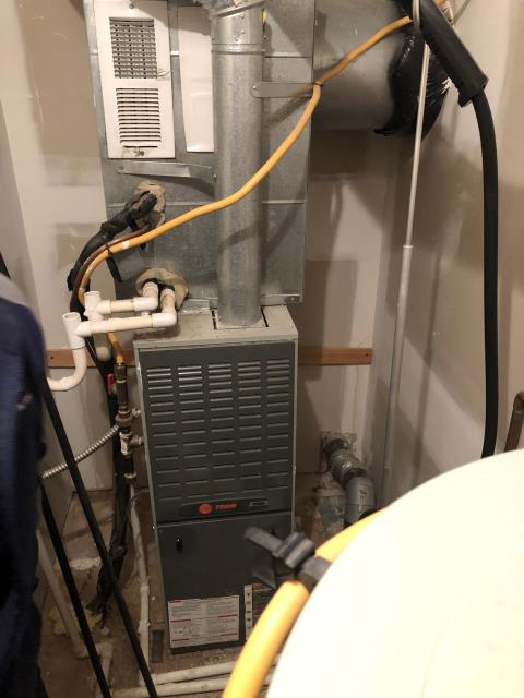 Diagnostic Service Call on TRANE furnace.  ran system with no faults. Tested flame sensor reading 1.5uA cleaned it now reading 2.1uA which is still to low.  recommended replacing flame sensor or waiting to see if the furnace is having an intermittent issue.  clean filter