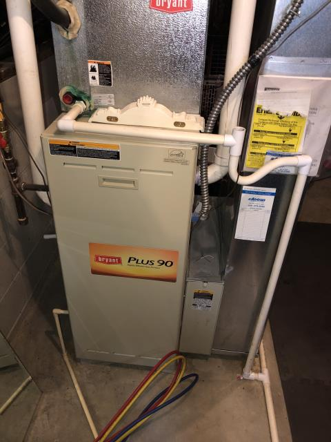 New Albany, OH - Performed complete tuneup and safety inspection on a Bryant furnace to ensure efficient operation for the winter season of 2019/2020.