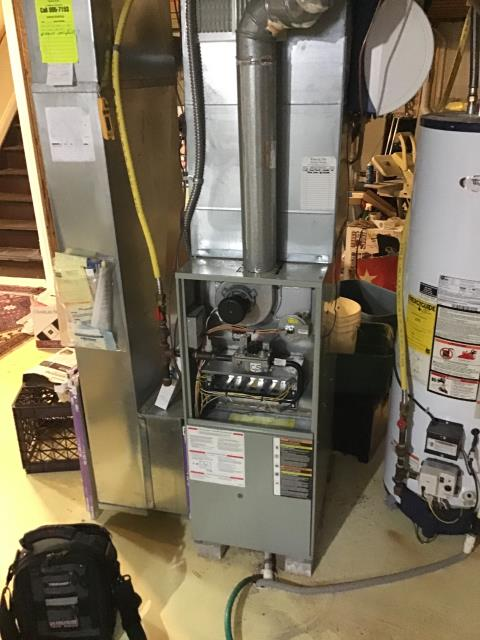 New Albany, OH - Performed complete tuneup and safety inspection on a Trane furnace to ensure efficient operation for the winter season of 2019/2020.