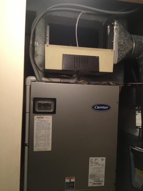 Whitehall, OH - Technician replaced the wet stitch on a Carrier furnace to ensure proper draining. The furnace is operating properly and efficiently and is ready for the winter season.