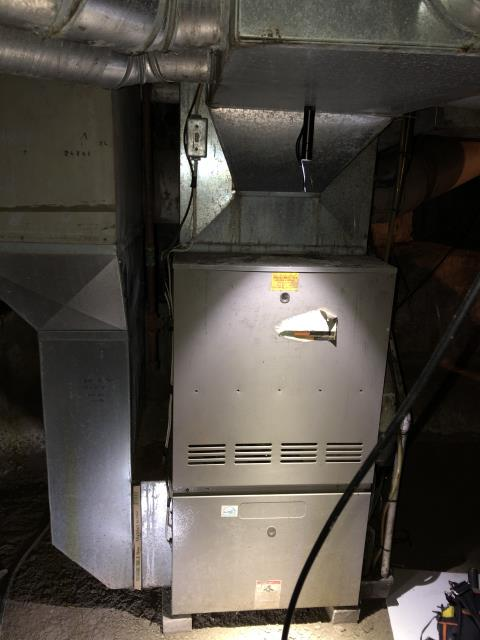 Technician diagnosed faulty inducer motor, gas valve, and a failing blower motor on a Janitrol furnace. Due to the age of the unit, the technician recommended to replace the furnace.