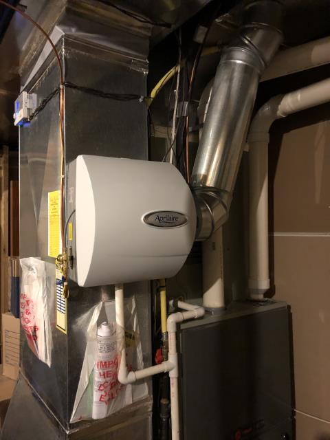 Pickerington, OH - Installed a thermostat for a Honeywell humidifier on a Trane furnace. Both sytems are running properly and efficiently.