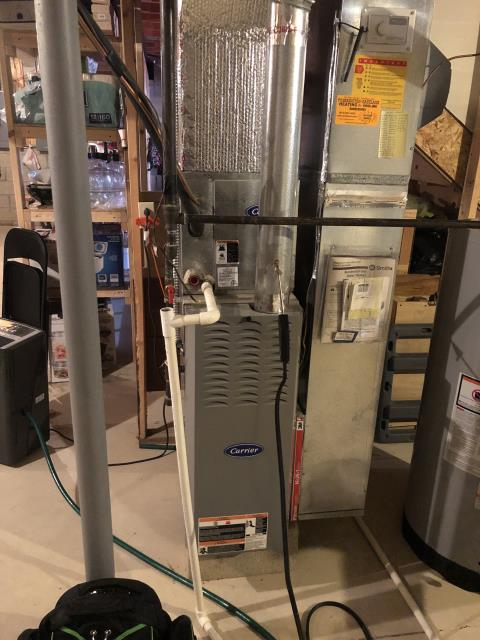 Reynoldsburg, OH - Performed complete tuneup and safety inspection on a Carrier furnace to ensure efficient operation for the winter season of 2019/2020