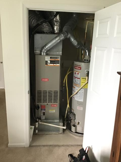 A full fall tuneup and safety inspection was conducted on a Bryant gas furnace. All components are working to manufacturer's standards. The system is running properly and efficiently.