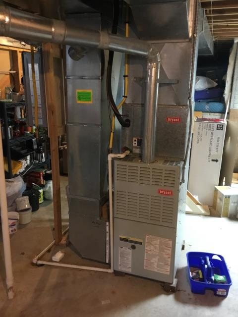 Pickerington, OH - No heat call. Found faulty igniter and capacitor on the Bryant furnace. Both parts were replaced and now the system is operating properly.