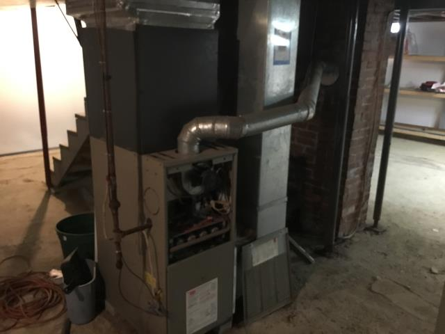 Performed thorough safety check for a Carrier gas furnace. Customer had complained of a slight burning smell emanating from the system. Upon further inspection, a filter wrapper had become lodges in the blower motor and had been shredded. After cycling the furnace several times, the unit is running properly, and is ready to heat for the winter season.