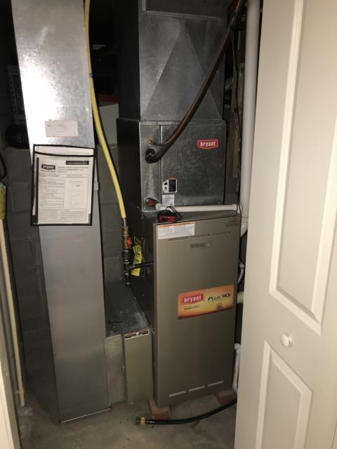 Installation of new Carrier brand furnace. Replacing Bryant furnace.