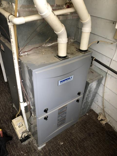One of our talented technicians adjusted the blower speed on a Tempstar gas furnace. This allowed for more efficient operation of the system. The furnace is ready for the winter season.
