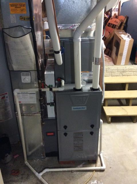 Furnace tune - up and safety check performed on a Comfortmaker Gas furnace unit. Confirmed that the system is working within manufacturer specifications.  Pictured is the customer's Comfortmaker Gas Furnace Unit.