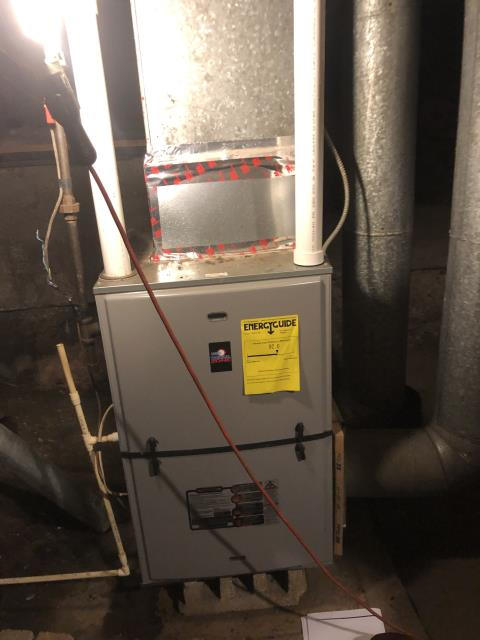 Thermal Zone furnace was not heating. Found furnace locked out on fault code upon arrival. The drain was clogged. Cleaned the drain and now the system is operating properly.