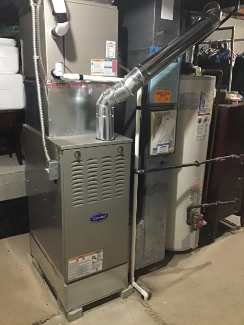 Installation Inspection on new installation of Carrier Furnace.